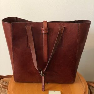Lucky Brand Tote with thick leather